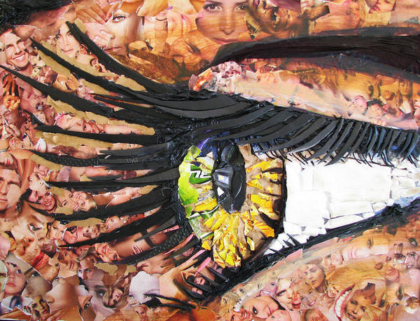 Eye Poster featuring the mixed media All I See Is Garbage by Alicia LaRue