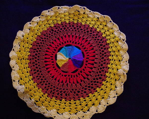 Crochet Poster featuring the photograph All My Life's A Circle by Robyn Greaves