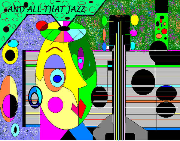 Music Poster featuring the digital art All That Jazz by George Pasini