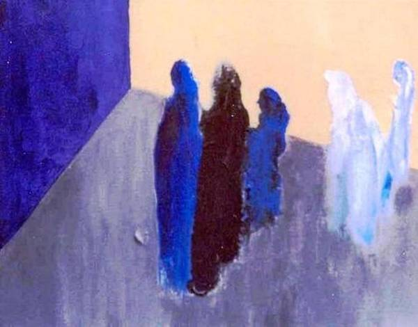 Blue Poster featuring the painting All We Are Saying. . . by Bruce Combs - REACH BEYOND