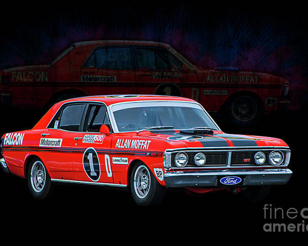 Ford Poster Featuring The Photograph Allan Moffat Ford Falcon Xy Gtho Phase Iii By Stuart Row