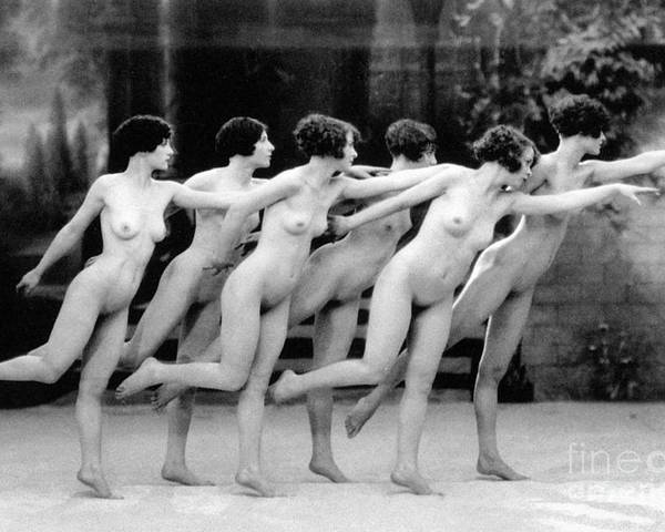 1920 Poster featuring the photograph Allen: Chorus Line, 1920 by Granger