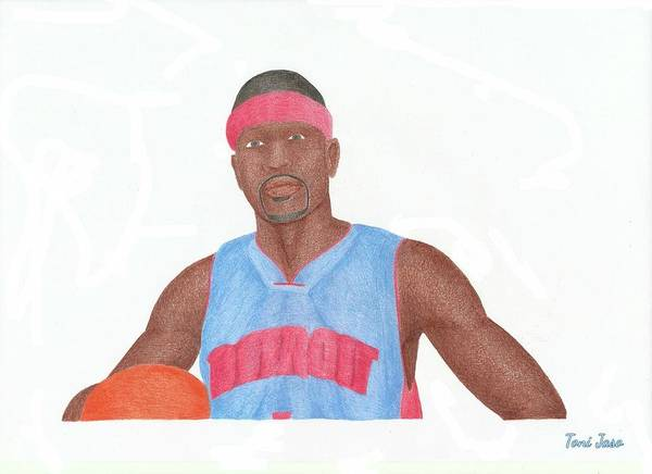 Allen Iverson Poster featuring the drawing Allen Iverson by Toni Jaso