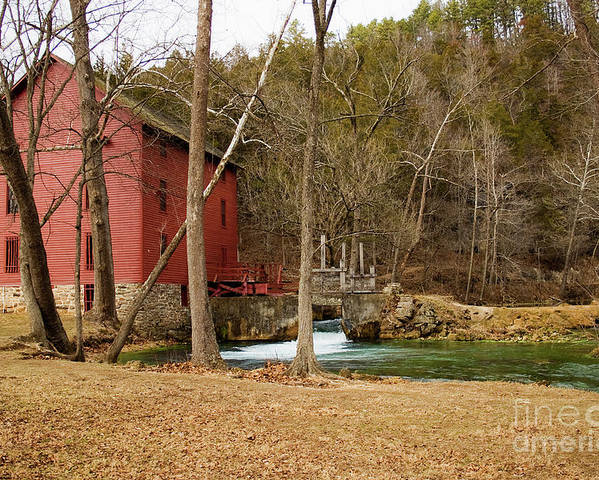 Alley Spring Poster featuring the photograph Alley Mill by Reva Dow