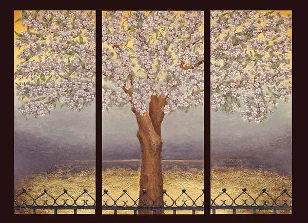 Almond Poster featuring the painting Almond Tree by Barbara Gerodimou