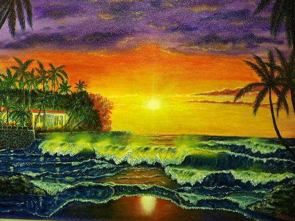 Landscape Poster featuring the painting Aloha by Charles Vaughn