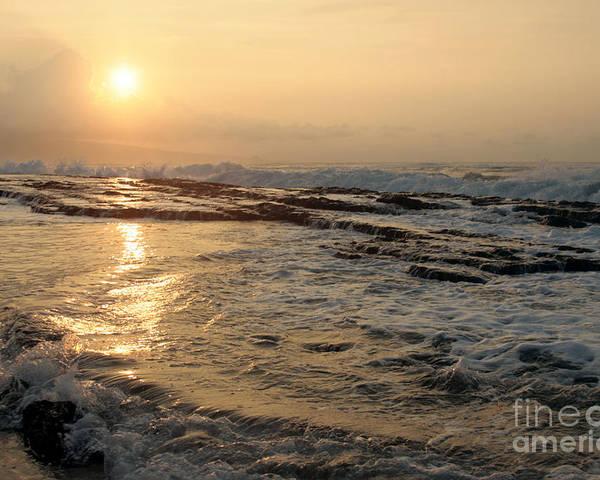 Aloha Poster featuring the photograph Aloha Oe Sunset Hookipa Beach Maui North Shore Hawaii by Sharon Mau