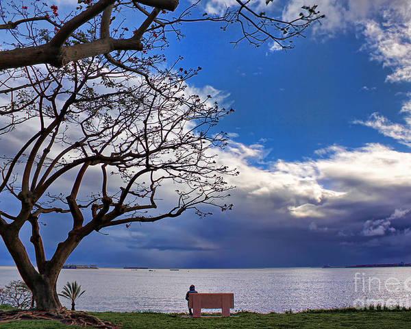 Landscape Poster featuring the photograph Alone by Hartono Tai