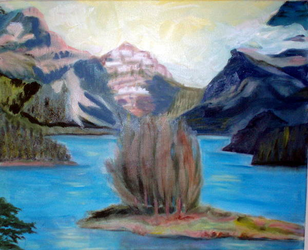 Alps Poster featuring the painting Alpine Lake by Lia Marsman