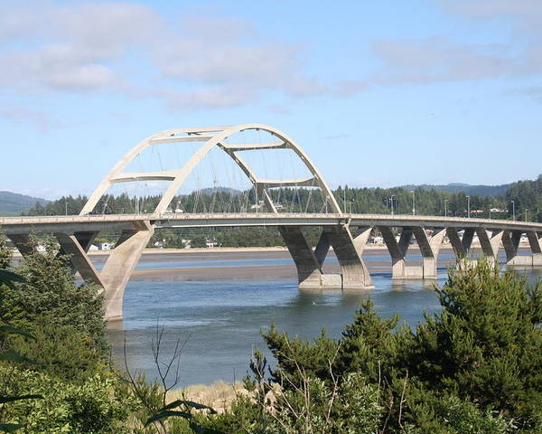 Alsea Poster featuring the photograph Alsea Bridge Br 7002 by Mary Gaines