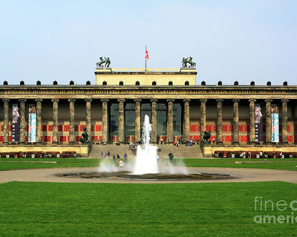 Altes Museum Poster featuring the photograph Altes Museum In Berlin by John Rizzuto