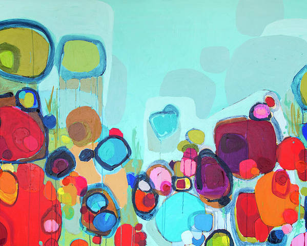 Abstract Poster featuring the painting Always Will Be by Claire Desjardins