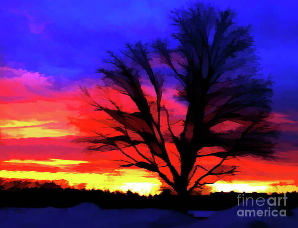 Sunrise Poster featuring the photograph Amaze Blaze and Mystify by Christine Segalas