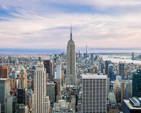 Empire State Building Poster featuring the photograph Amazing Manhattan by Az Jackson