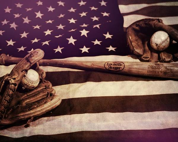 American Baseball Grunge Poster featuring the photograph American Baseball Grunge by Dan Sproul
