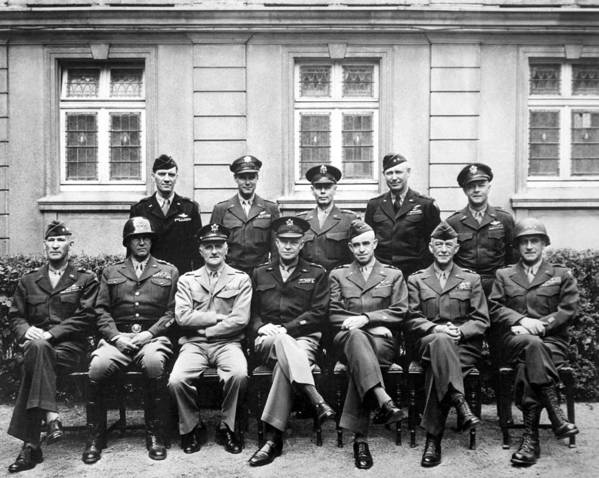 Dwight Eisenhower Poster featuring the photograph American Generals Wwii by War Is Hell Store