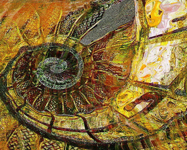 Ammonite Poster featuring the painting Ammonite by Anne Weirich