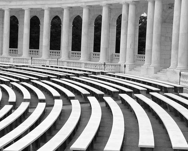 Architecture Poster featuring the photograph Amphitheatre Washington by Vijay Sharon Govender