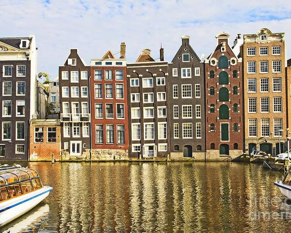 Age Poster featuring the photograph Amsterdam Canal by Giancarlo Liguori