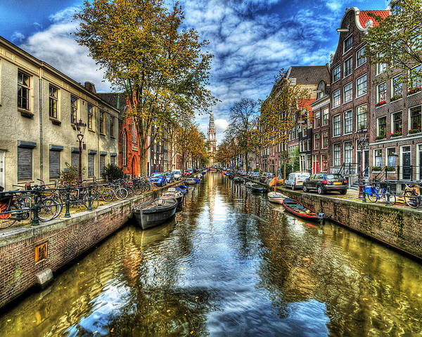 Amsterdam Poster featuring the photograph Amsterdam by Svetlana Sewell