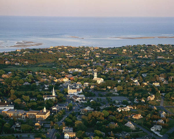 Outdoors Poster featuring the photograph An Aerial View Of Chatham by Michael Melford