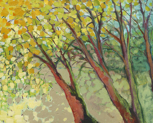 Tree Poster featuring the painting An Afternoon At The Park by Jennifer Lommers