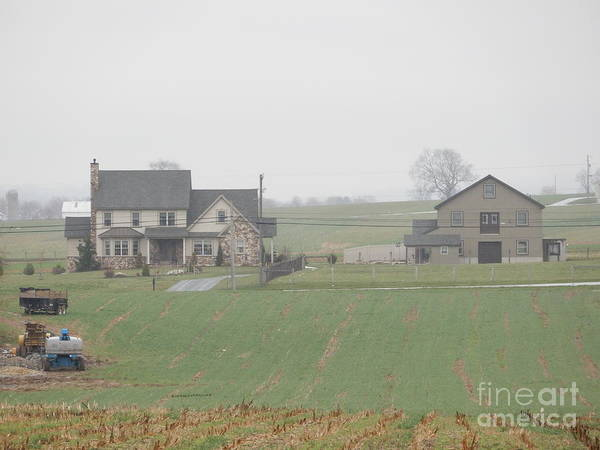 Amish Poster featuring the photograph An Amish Family Home by Christine Clark