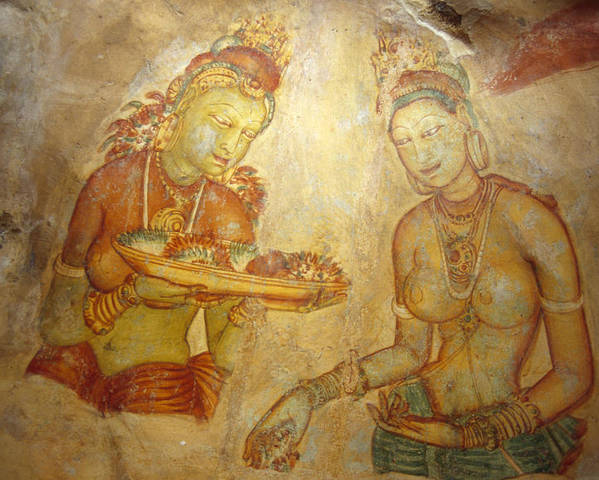 Ancient Cave Wall Paintings Depicting Poster