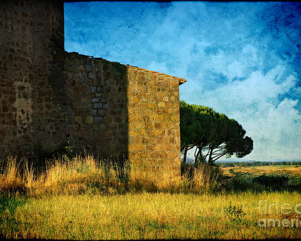 Ancient Poster featuring the photograph Ancient Church - Italy by Silvia Ganora