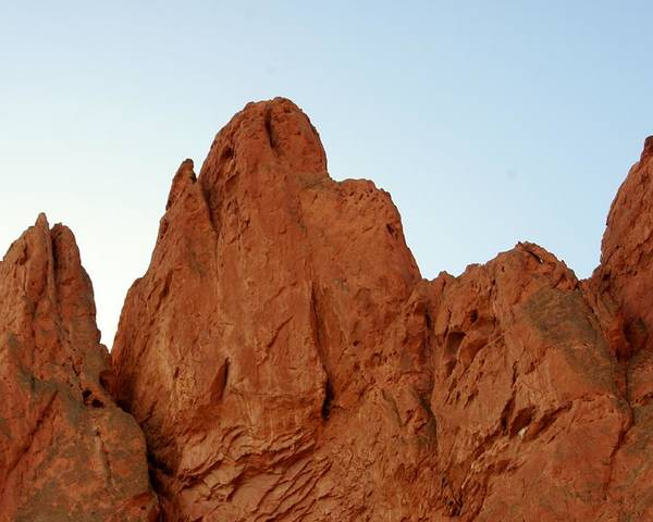 Garden Of The Gods Poster featuring the photograph Ancient Crest by Rhonda DePalma
