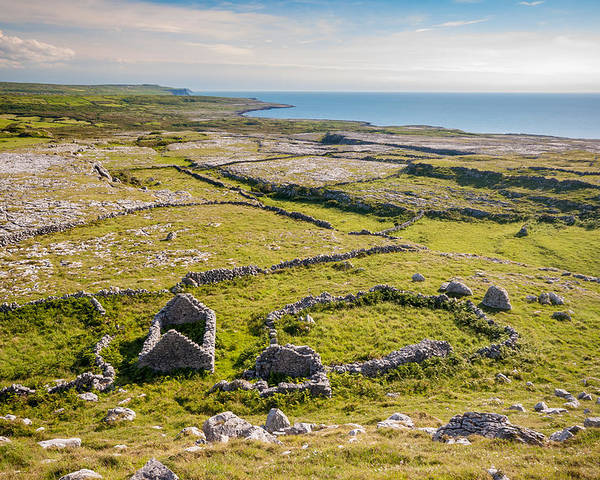 Ireland Poster featuring the photograph Ancient Settlement In The Burren by Pierre Leclerc Photography