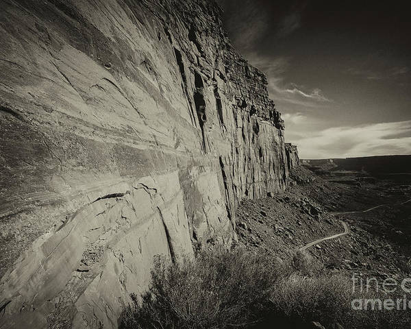 Utah Landscape Poster featuring the photograph Ancient Walls by Jim Garrison