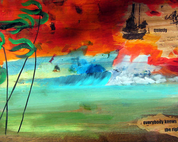 Landscape Poster featuring the painting Andaman Islands by Nathan Paul Gibbs