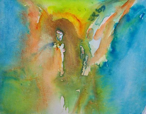 Abstract Poster featuring the painting Angel Of Kindness by Judith Redman