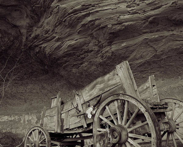 Old West Poster featuring the photograph Angels Landing by Edwin Voorhees