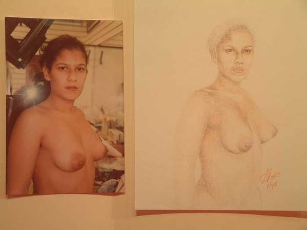 Nudes Poster featuring the painting Anna by Benito Alonso