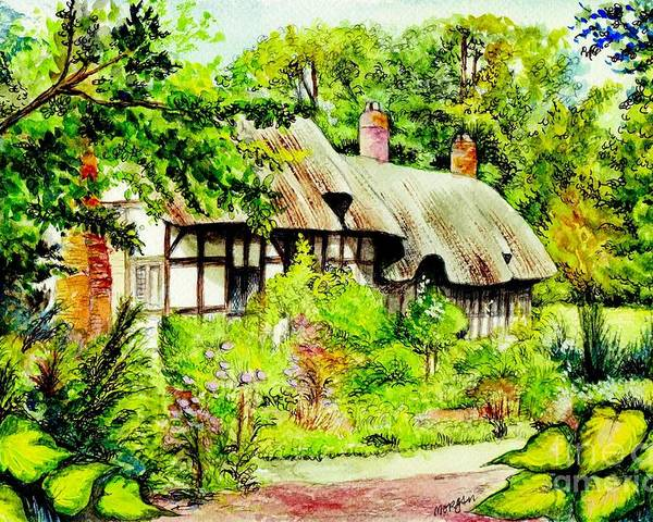 Anne Poster featuring the painting Anne Hathaways Cottage by Morgan Fitzsimons