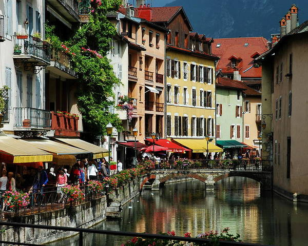 Annecy Poster featuring the photograph Annecy Medieval Town by Francois Dumas