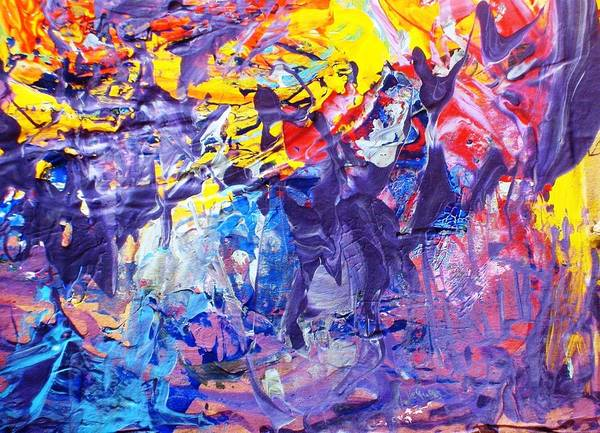 Abstract Poster featuring the painting Another New York State Of Mind by Bruce Combs - REACH BEYOND