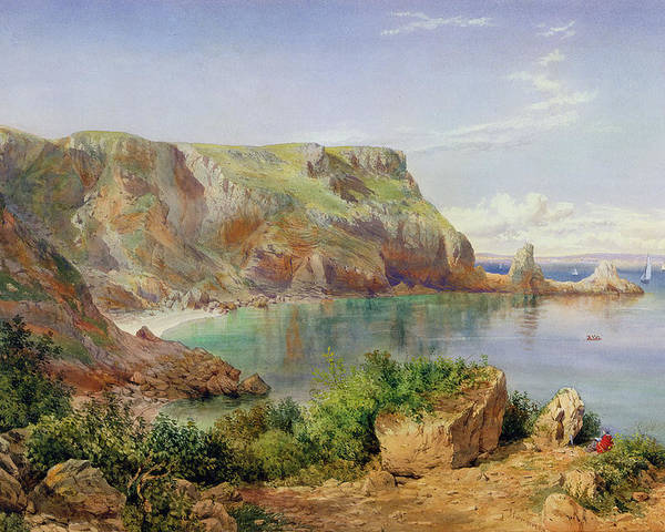 Ansty Poster featuring the painting Ansty's Cove by John William Salter