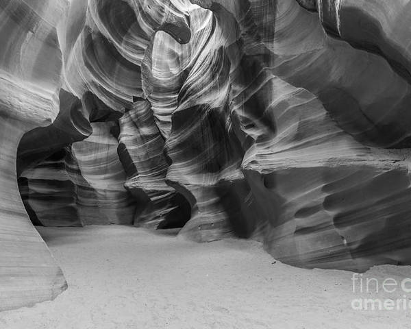 Antelope Canyon Poster featuring the photograph Antelope Canyon Abstract by Ben Adkison