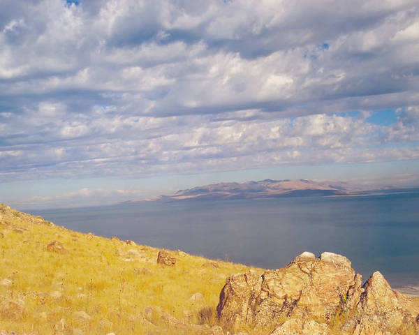 Great Salt Lake Poster featuring the photograph Antelope Island 3 by Steve Ohlsen