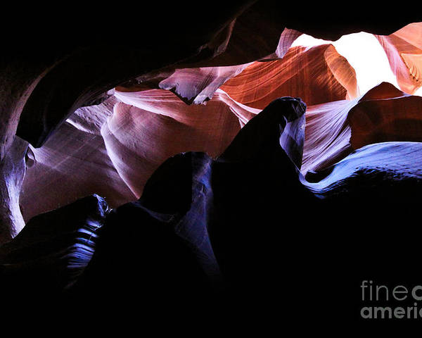 ryankellyphotography@gmail.com Poster featuring the photograph Antelope Slot Canyons by Ryan Kelly