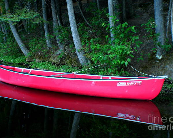Canoe Poster featuring the photograph Anticipation by Idaho Scenic Images Linda Lantzy