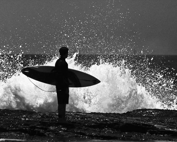 Surfer Poster featuring the photograph Anticipation by Sheila Smart Fine Art Photography