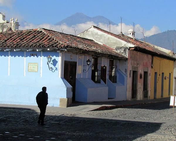 Antigua Poster featuring the photograph Antigua Guatemala Streetscene by Robert Gerdes