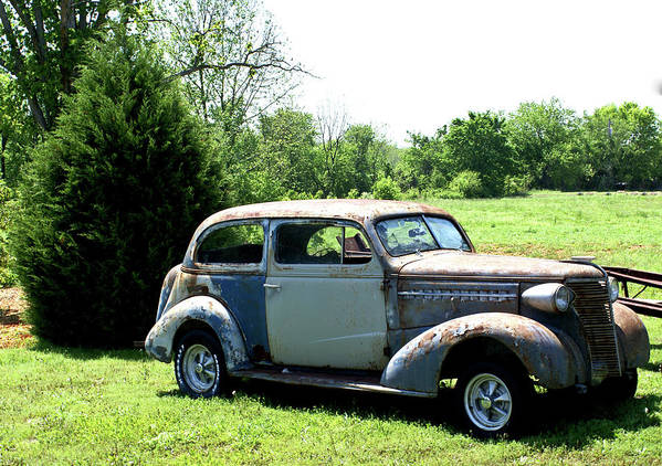 Antique Poster featuring the photograph Antique Car 1 by Douglas Barnett