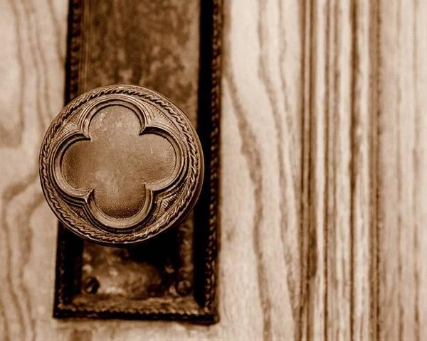 Doorknob Poster featuring the photograph Antique Doorknob by Caroline Clark