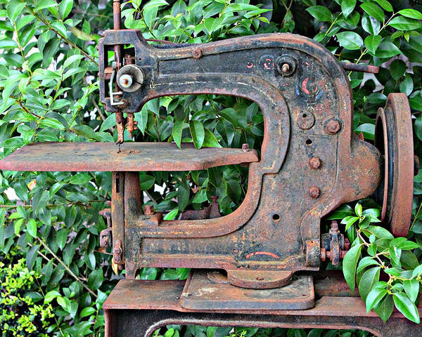 Antique Leather Sewing Machine Poster By Linda Phelps Magnificent Vintage Leather Sewing Machine