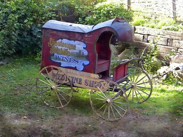 Wagon Poster featuring the photograph Antique Wine Wagon by Frank Wilson